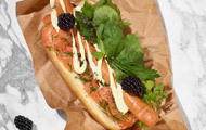 Hot Dog Graved Lachs Style