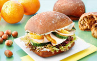 Bratensandwich mit Orange
