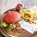 FF-Red Love Burger, geschnitten