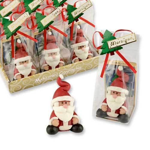 Marzipan-Nikolaus, im Display