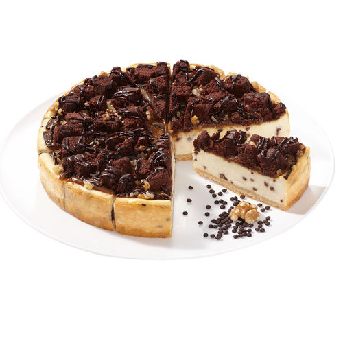 Caramel-Brownie-Cheesecake Supreme, geschnitten
