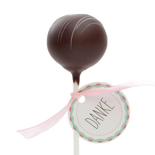 "Cake Pop ""Brownie"" mit ""Danke"""